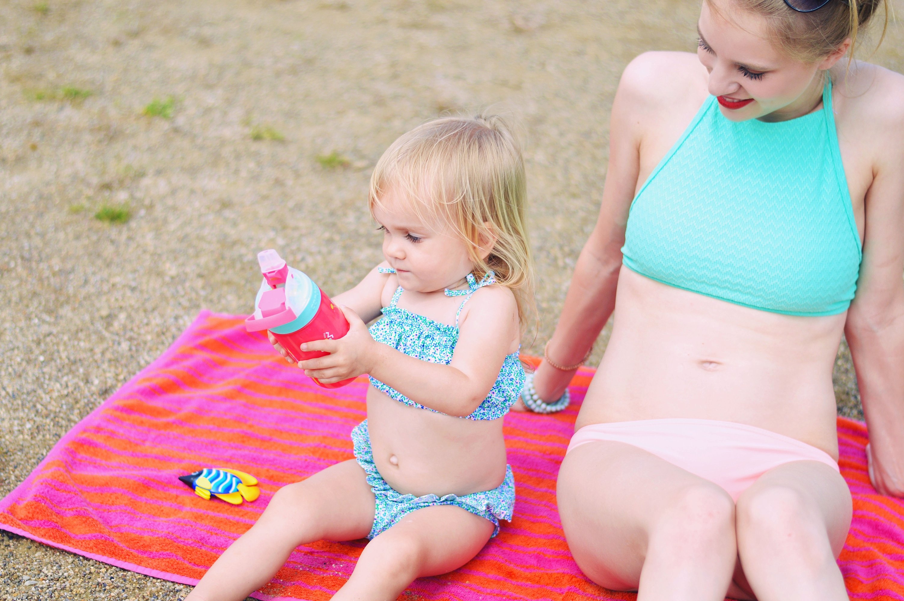 Beach bag essentials with a toddler by Rachael Burgess