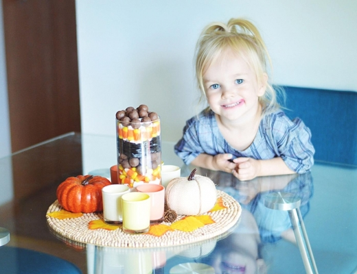 Easy Halloween Centerpiece or Fall Centerpiece by Lifestyle Blogger Rachael Burgess