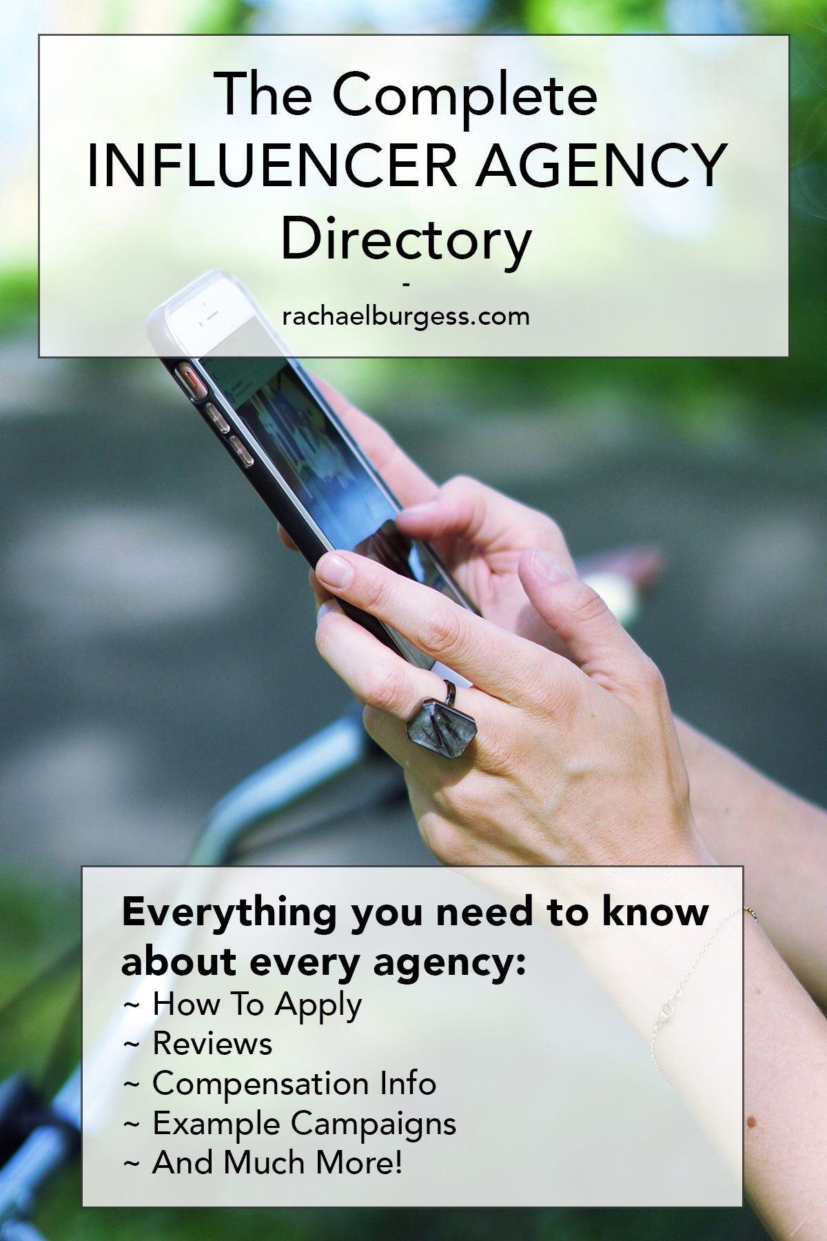 The Complete Influencer Agency Directory by Rachael Burgess