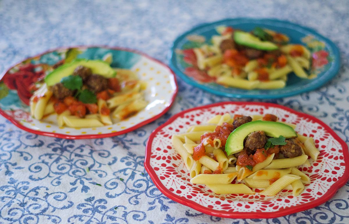 Mexican Meatballs & Marinara Pasta Recipe | Rachael Burgess